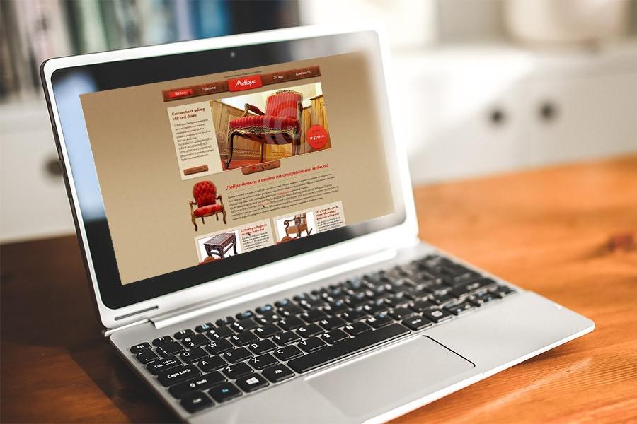 Уеб сайт на мебели Антик