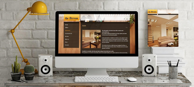 Изработка на уеб сайт за бизнес сграда Атриум