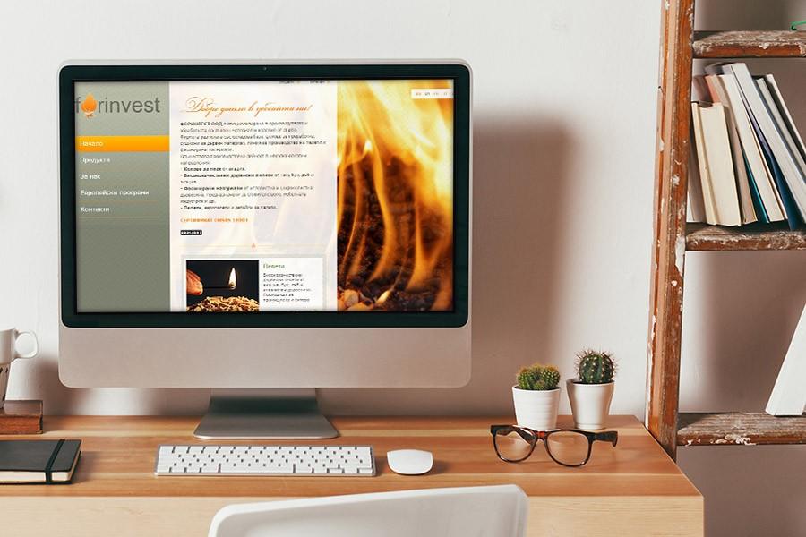 Изработка на уеб сайт за фирма Форинвест