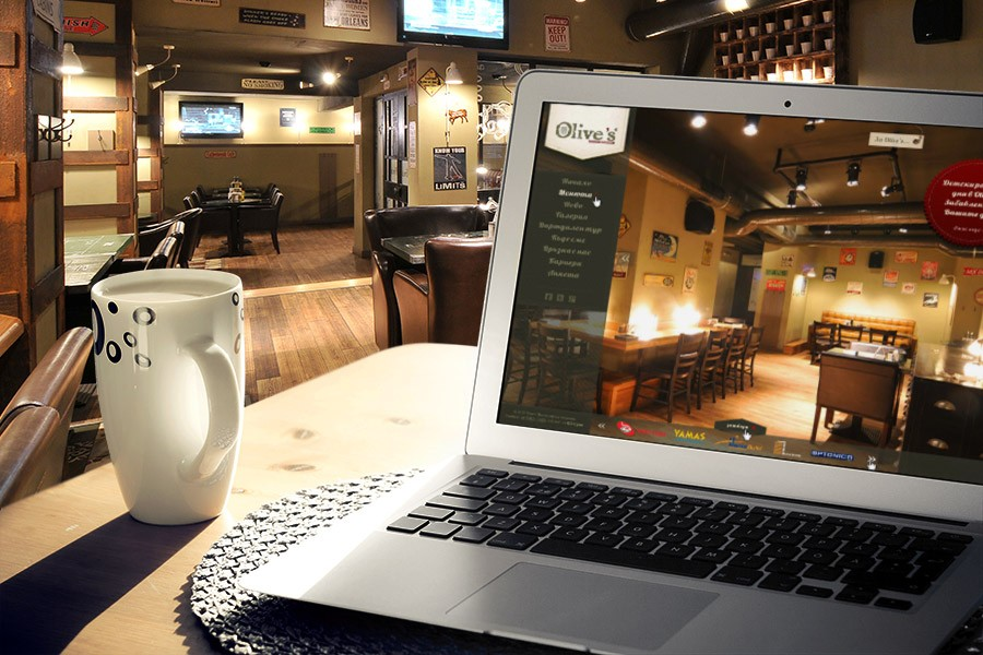 Обновен уеб дизайн за ресторант Оливс