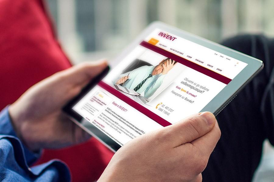 Корпоративен уеб сайт на Инвент