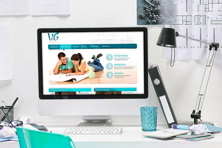 Уеб сайт на Ви ен Джи мебели