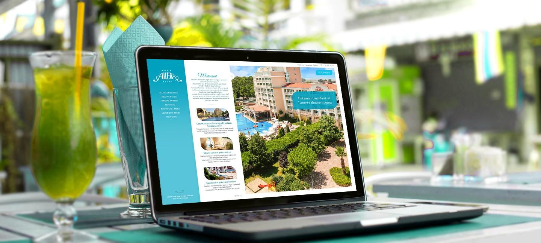 Уебсайт на хотел Алба