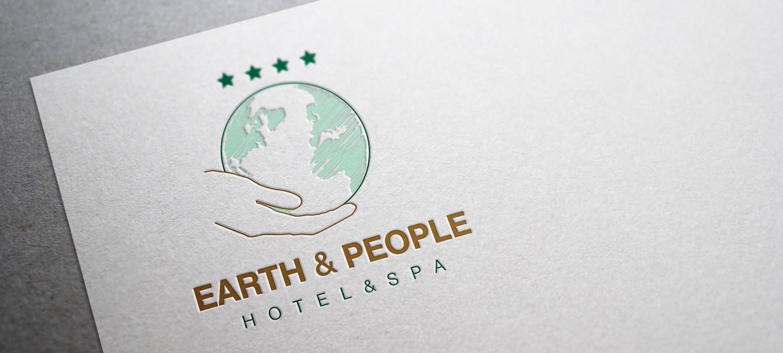 Лого дизайн на хотел Земята и хората