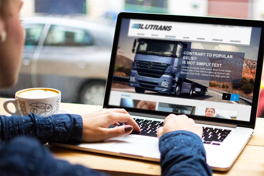 Уеб сайт на спедиторска фирма Блутранс