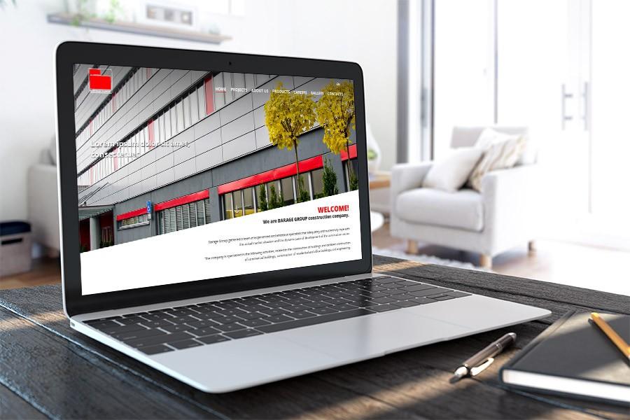 Уеб сайт на строителна фирма Бараж Груп