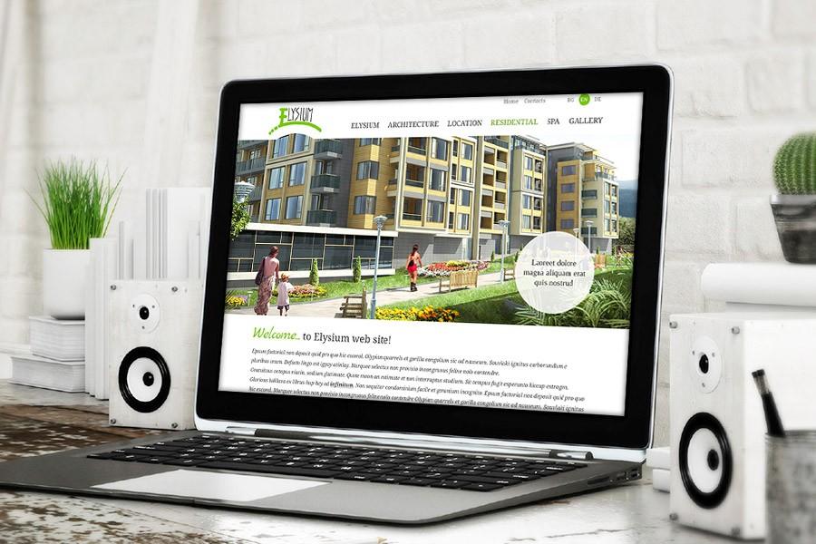 Уеб сайт на жилищен комплекс Елизиум