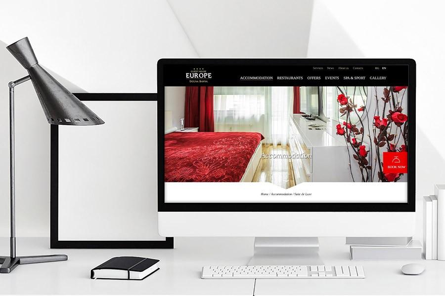 Уеб сайт на луксозна къща за гости Европа