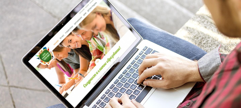 Уеб сайт на частно училище Свети Наум