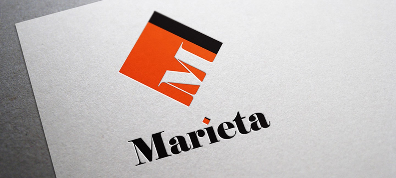Лого на транспортна фирма Мариета