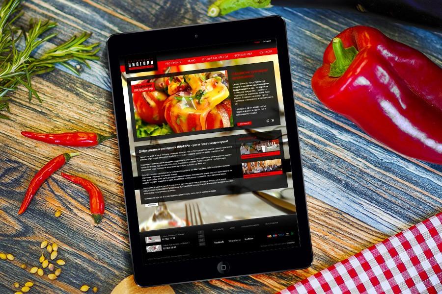 Уеб сайт за ресторанти Ниагара