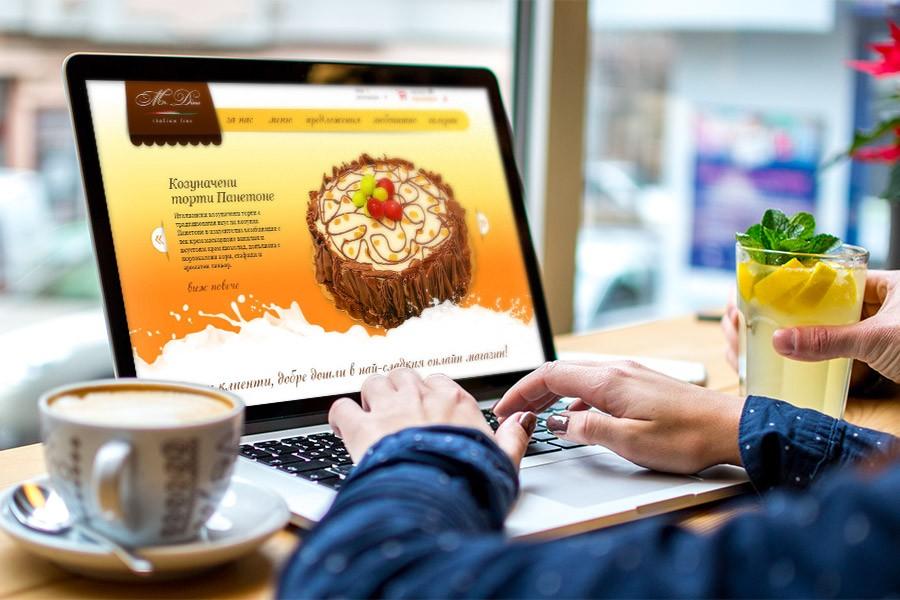 Изработка на онлайн магазин за торти и сладкиши Мистър Дино