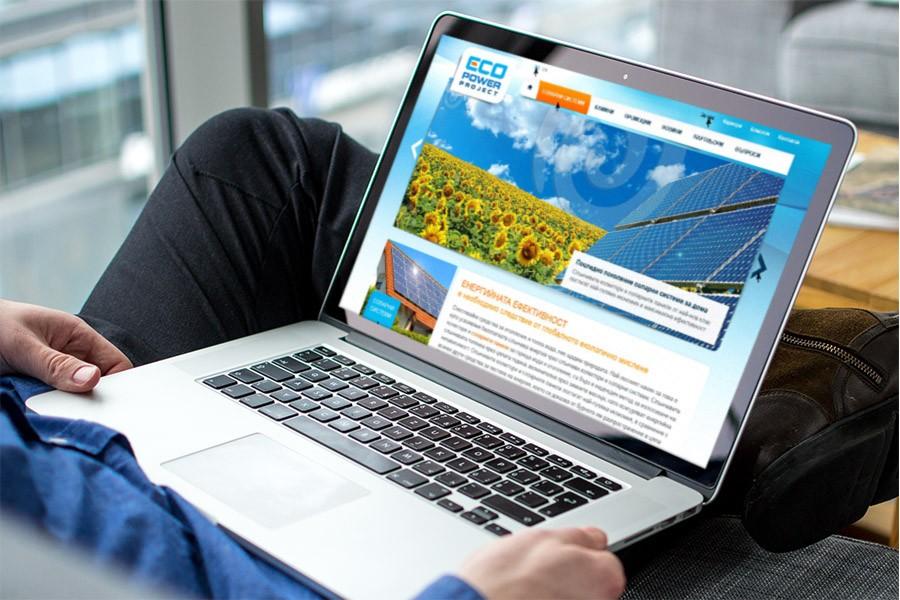 Уеб дизайн и фирмено лого за алтернативни източници на енергия