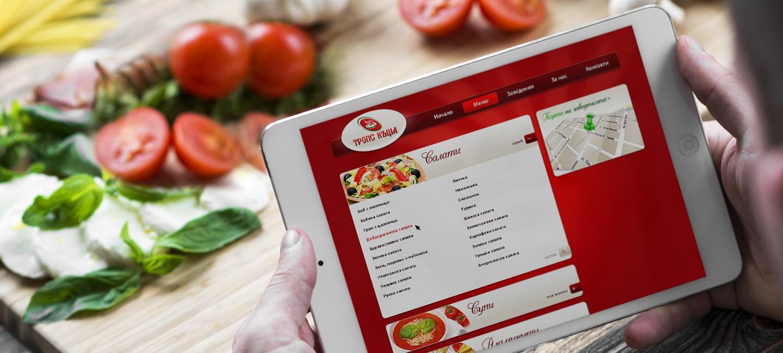 Уеб дизайн за ресторанти за бързо хранене Тропс фууд