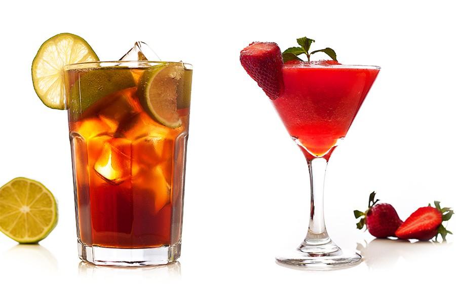Кулинарна фотография на коктейли за меню на ресторант Ниагара