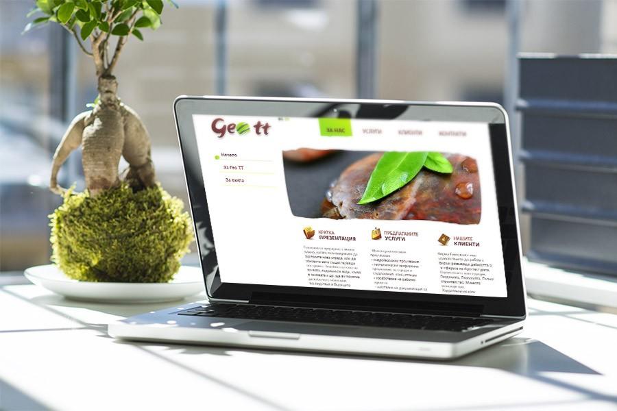 Изработка на уеб сайт и лого дизайн на Гео ТТ