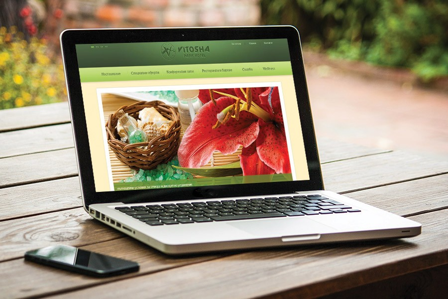 Уеб дизайн, корпоративна идентичност на Витоша Парк Хотел