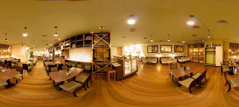 360 градусова панорама на ресторант Спагети къмпани
