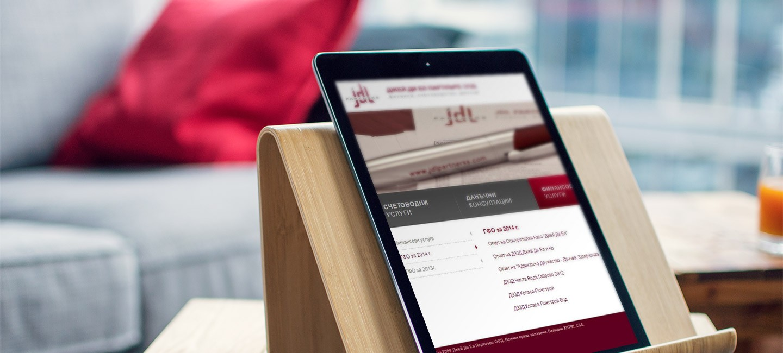Уеб сайт на Джей Ди Ел Партнърс