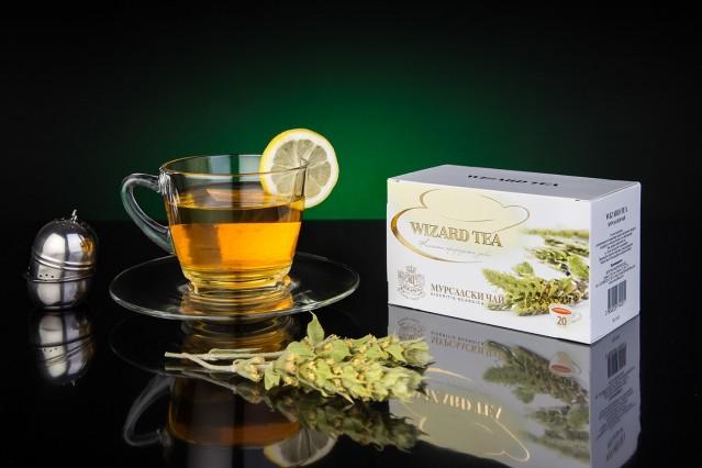 Продуктова фотография на чай Уизърд
