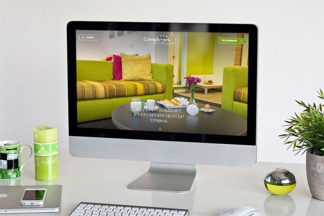Уеб сайт на хотел Комплимент