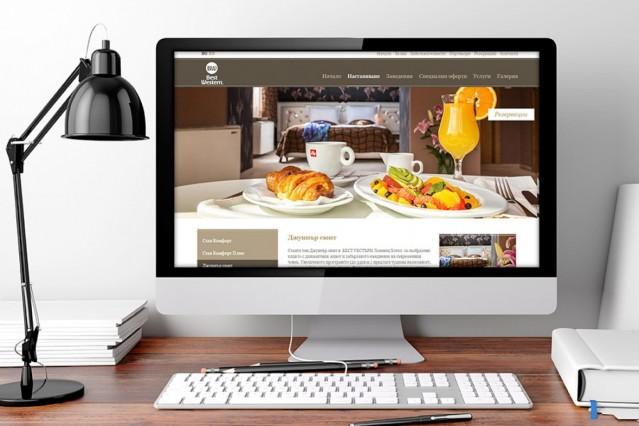 Уеб сайт на хотел Бест Уестърн Лозенец